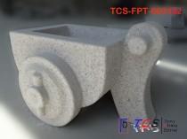 TCS-FPT-003101 Flowerpot Planter G603 silver grey & G682 yellow granite