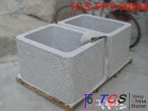 TCS-FPT-005101 Flowerpot Planter G603 silver grey granite