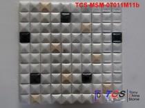 TCS-MSM-07011M11b Marble Mosaic 3D Mixed colors